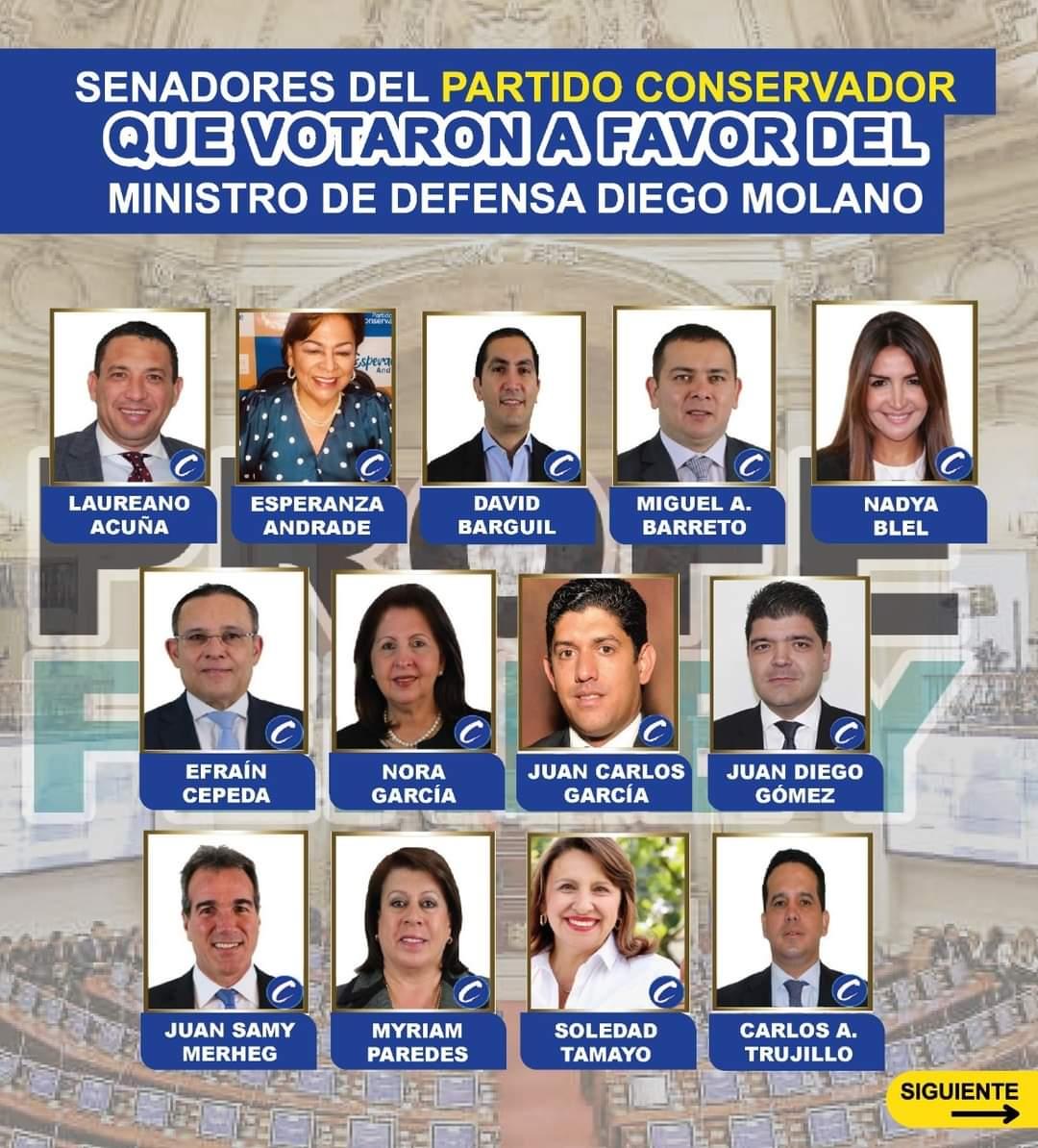 Estos son los congresistas que votaron en contra de la moción de censura al Mindefensa ...